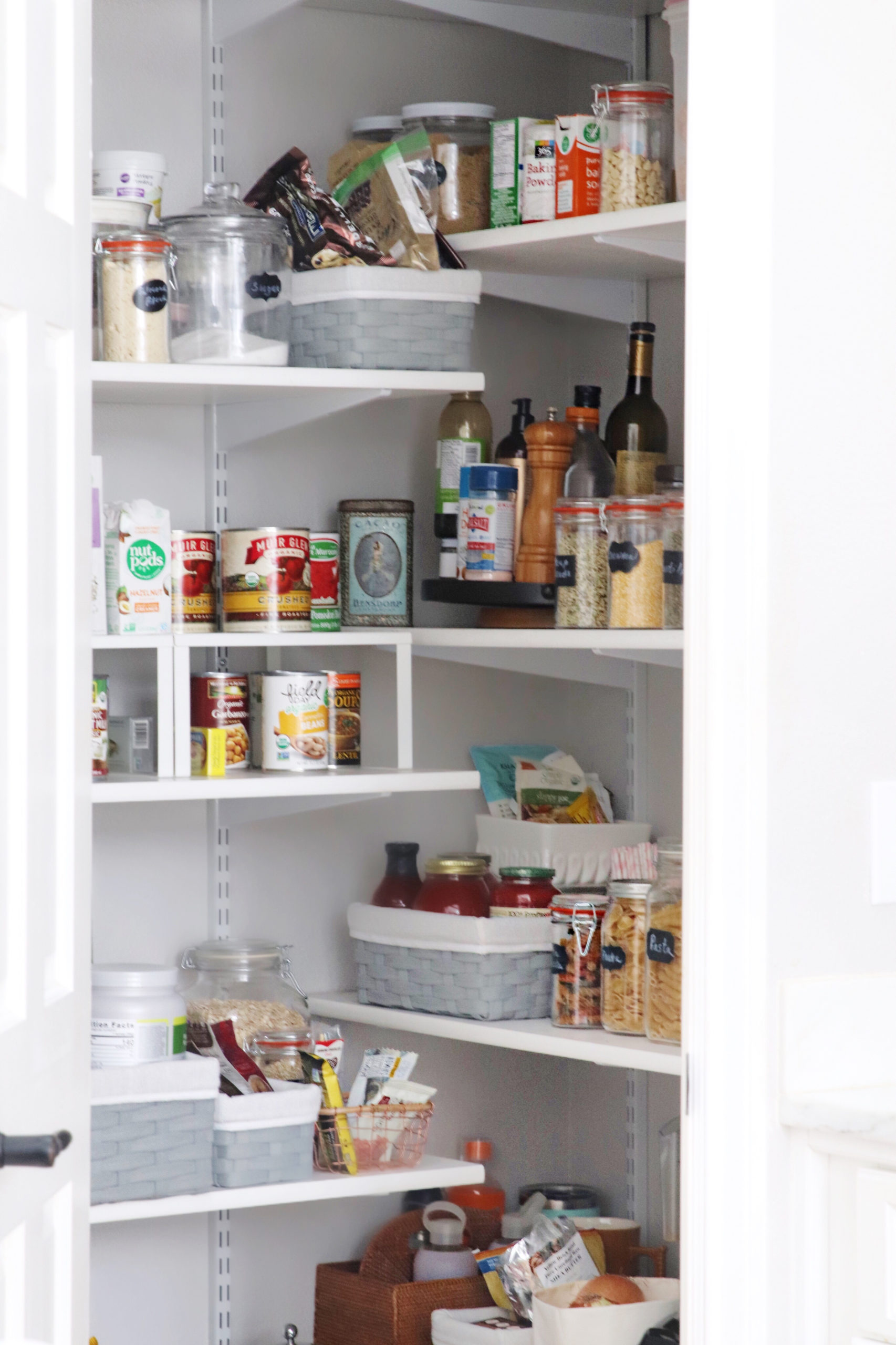 how to organize your kitchen pantry cabinet - Lemon Grove Lane